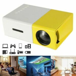 Mini Portable Projector YG300 1080p 3D HD LED Home Theater Cinema AV USB SD HDMI