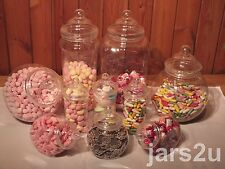 Wedding Candy Buffet - 10 Victorian Style Plastic Jar Set - Child Safe-Birthdays