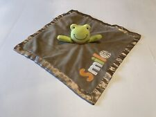 Carter'S Frog Green Tan Smile Security Blankey Lovey L4