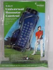 NEW OLD STOCK 3 IN 1 GOLF BAG SHAPED UNIVERSAL REMOTE CONTROL SEALED RADIO SHACK