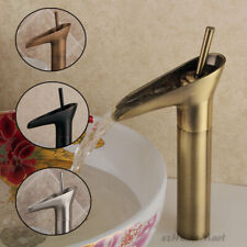 Bathroom Waterfall Basin Tap Sink Mixer Cloakroom Taps for Vanity Sink Bowl NEW