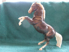 Vintage Breyer #34 Glossy Charcoal Fighting Stallion With Eyewhites
