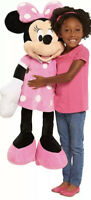 "Disney 40"" Giant Jumbo Minnie Mouse Stuffed Animal Plush Doll Pink Polka Dots"