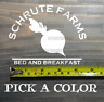 "Schrute Farms Sticker Decal 4.5"" The Office Dwight Beets Bears Battlestar XO"