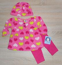 Baby Mädchen Kleid Set 3tlg Anzug 🐞 mit Mütze 🐞 warm weich federleicht