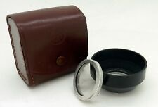 CASED BAYONET I (1) UV SKYLIGHT FILTER & 34MM LENS HOOD #3345