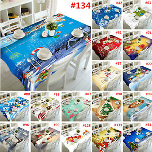 3D Printed Christmas Theme Tablecloth Party Home Decor Table Cloth Cover