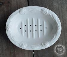 Seifenschale Seifenablage 'Juliet' Keramik weiß Bad French Vintage Shabby
