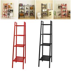 Metal 4Tier Ladder Shelf Display Storage Unit Book Stand Rack Shelving Wide/Slim