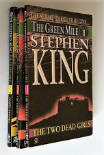 The Green Mile Part 1,2,3 lot By Stephen King - Softcover novellas horror