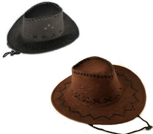 Westernhüte für Erwachsene + Kinder Western Cowboy Hut - Westernhut - Lederoptik