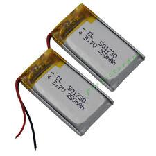 2 pcs 3.7V 250 mAh Polymer Li Battery Li-ion For bluetooth headset pen  501730