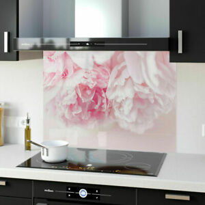 Splashback Kitchen Toughened Glass ANY SIZE FHD Pink Floral Flowers 88725031n
