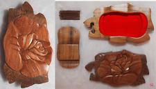 """TRES ORIGINALE BOITE SECRETE EN BOIS, PUZZLE BOX, CASSE TETE FORME Fleur """"ROSE"""""""