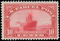 1912-13 US 10¢ Parcel Post Stamp, SCOTT #Q6 MINT-VF-HINGED