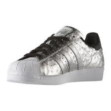 adidas Originals Superstar Shoes Mens Metallic Silver Trainers Size 9 AQ4701