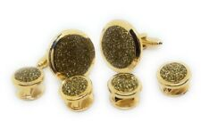 DIAMOND DUST CUFFLINKS AND TUXEDO STUDS MANUFACTURERS DIRECT PRICING