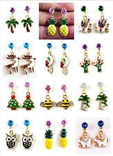 many styles Betsey Johnson Fashion Jewelry Cute Rhinestone ear studs Earrings