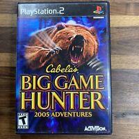 Cabela's Big Game Hunter 2005 Adventures - Playstation 2 PS2 Game - Complete