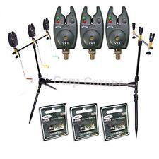 NGT Carp Coarse Fishing Session 3 Rod Pod Avec 3x alarmes indicateurs + Piles