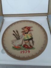 Mi Hummel 1974 In Original Box 4th Annual Collector Plate Goebel West Germany
