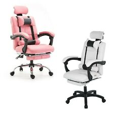 Leather Executive Home Office Desk Chair Ergonomic Swivel Racing Gaming Chair