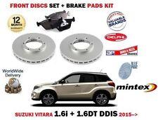 FOR SUZUKI VITARA 1.6i 1.6DT DDIS 2015 > FRONT BRAKE DISCS SET + DISC PADS KIT