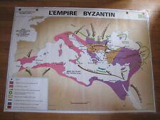 Carte Affiche scolaire type Vidal Empire Byzantin / Islam
