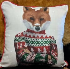 Pillow - Fab & Funky Fox in Xmas Sweater Home Decor