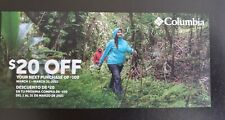 Columbia Sportswear Coupon Code DISCOUNT SAVE $20 OFF $100 - MARCH 2021