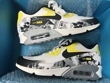 c10fb67f9e2b7 AUTHENTIC NIKE AIR MAX 90 PREMIUM DB WHITE BLACK YELLOW MENS SIZE 7.5 BRAND  NEW