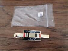 U.S MILITARY ARMY OIF IRAQ VETERAN TIE BAR OR TIE TAC CLIP ON TYPE