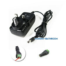 AC/DC12V 2A Power Supply/Charger/Adaptor Transformer 3Pin UK Plug For Strip Ligh