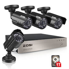 ZOSI 8CH 1080P DVR 1TB HDD Outdoor 720p Home Surveillance Security Camera System