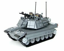 Gray M1a2 Abrams main battle tank complete set made with REAL LEGO® brick