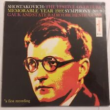 Shostakovich Alex Gauk & State Orch USSR Festive Overture Memorable Year 1919 LP