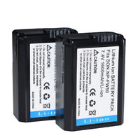 2pcs 100% New NP-FW50 Battery Pack For Sony Alpha A6000 A5000 Nex-3 5
