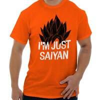 Just Saiyan Cute Shirt Goku Gift Dragon Idea Ball Z Cool Edgy Classic T Shirt Te