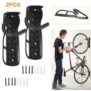 2x Bike Storage Rack Hook Mount Wall Vertical Garage Bicycle Hanger Stand Holder