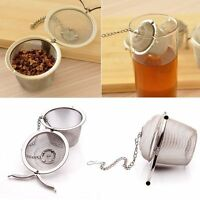 Stainless Steel Kitchen Tea Ball Strainer Mesh Infuser Filter Spice
