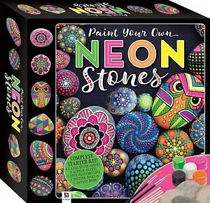 Stone Rock Painting Kit Paint Your Own Neon Stones Includes Paint and Stones