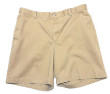 L L BEAN Classic Fit Khaki Beige Men's 100% Cotton Casual Shorts Tag Size 35