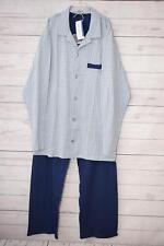 Schiesser Herren Zweiteiliger Schlafanzug Pyjama, Gr. M, blau
