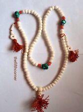 Vidrio budista tibetano Beads Oración Mala de Meditación Japa Collar de Nepal hecho a mano