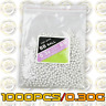 1000PCS Hard Airsoft Pellets BB Strikeball 0.30g, 6mm Tactical BB Balls (5.95mm)