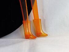 Vintage Skipper Francie Mod Vinyl Rain Boots Drizzle Sizzle 1972 Clear Out 1281