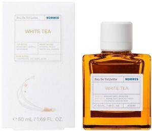 Korres Eau De Toilette Women's Perfume White Tea Bergamot & Freesia 50ml