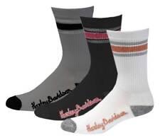 Harley-Davidson Womens Lurex Retro Riding Socks, 3pk. Multi Colors D89218770-990