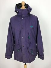 Vintage The North Face Mens Hooded Rock Solid Jacket Coat Large L Purple