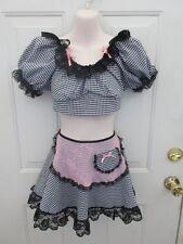 73474b199 Leg Avenue Black White Pink Maid Dance Costume XL Adult XLA